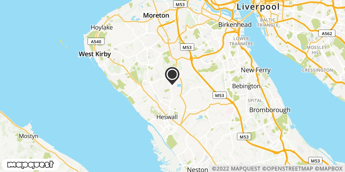 local map of watch repair drop off points in Heswall, Merseyside | Repairs by Post