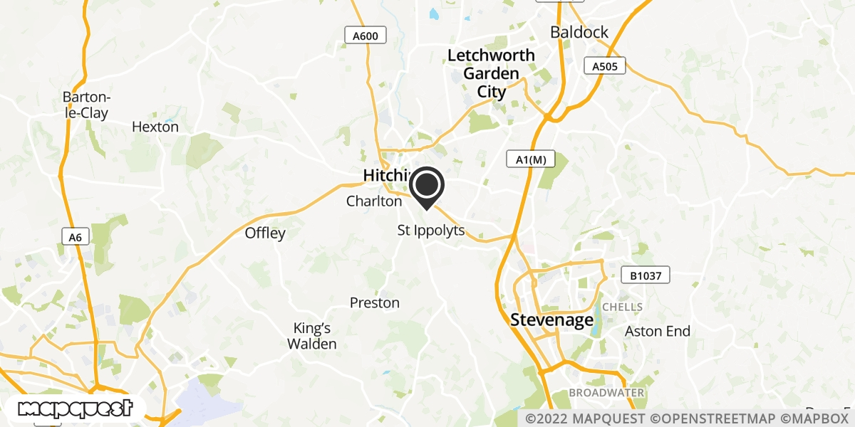 local map of watch repair drop off points in Hitchin, Hertfordshire | Repairs by Post