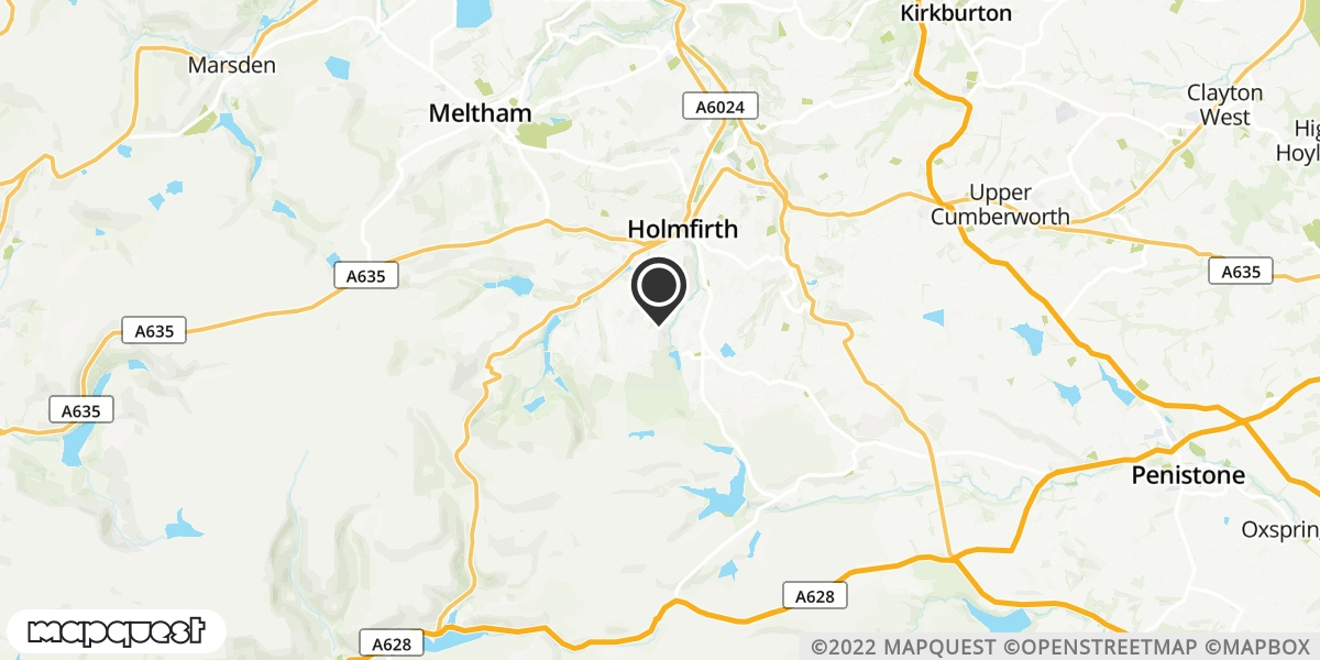 local map of watch repair drop off points in Holmfirth, West Yorkshire | Repairs by Post