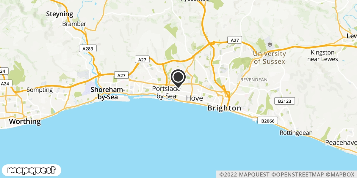 local map of watch repair drop off points in Hove, East Sussex | Repairs by Post