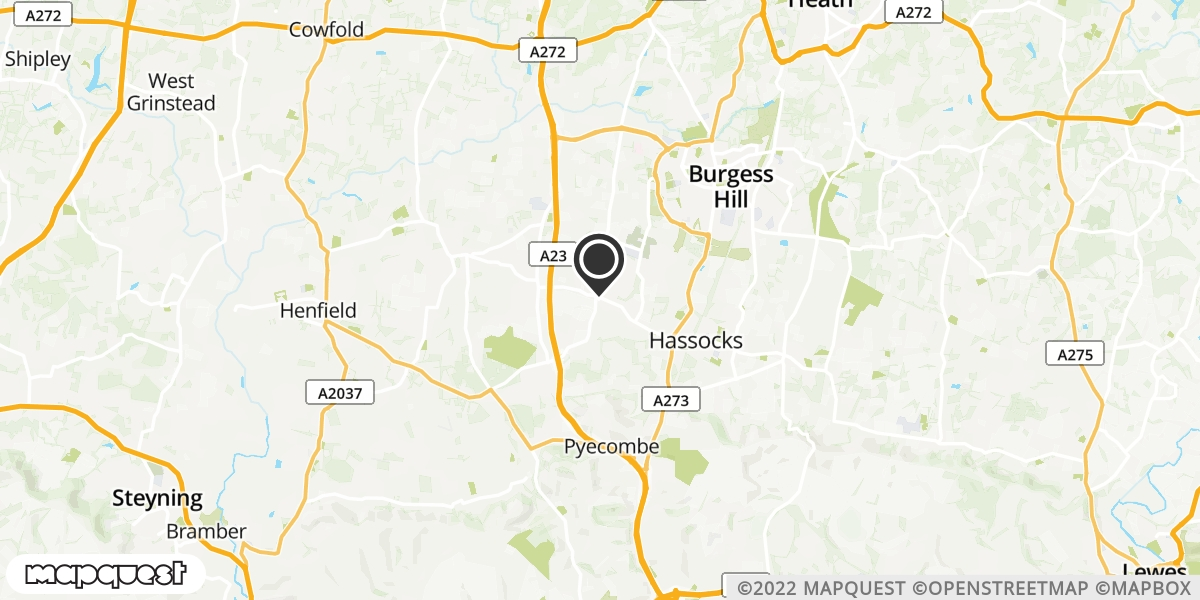 local map of watch repair drop off points in Hurstpierpoint Hassocks, West Sussex | Repairs by Post