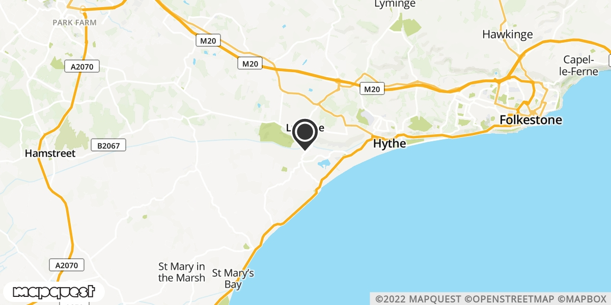 local map of watch repair drop off points in Hythe, Kent   Repairs by Post