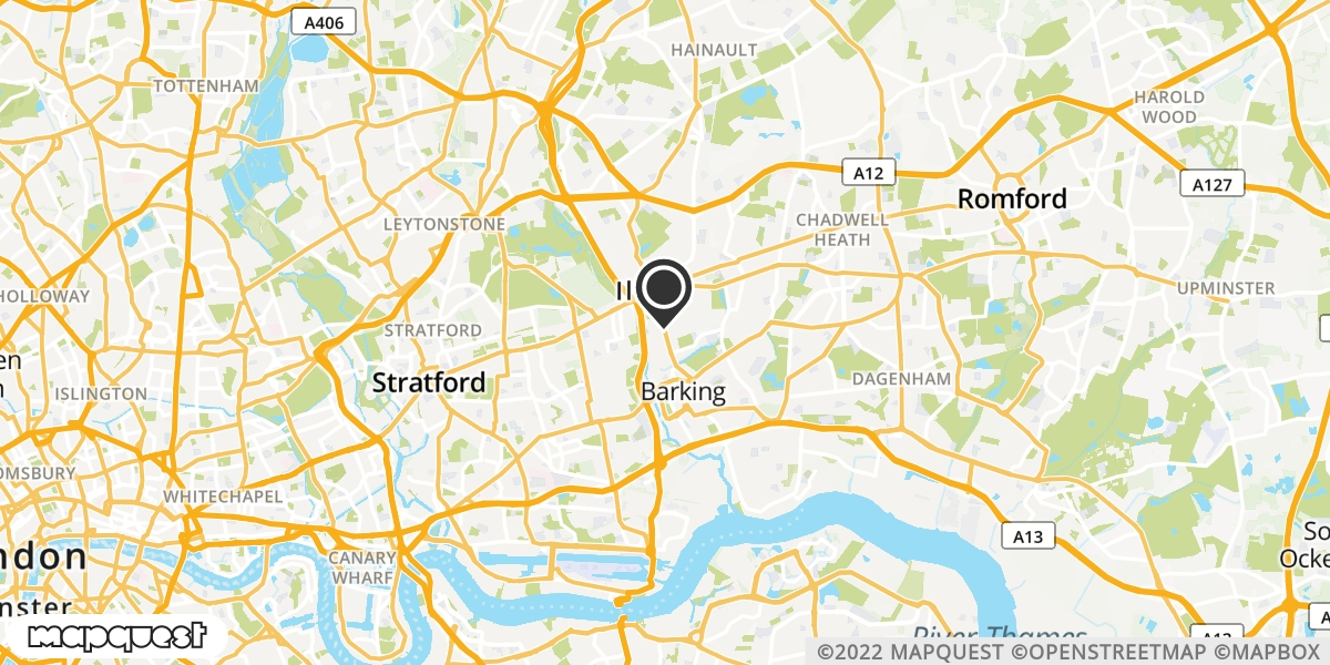 local map of watch repair drop off points in Ilford, Essex | Repairs by Post