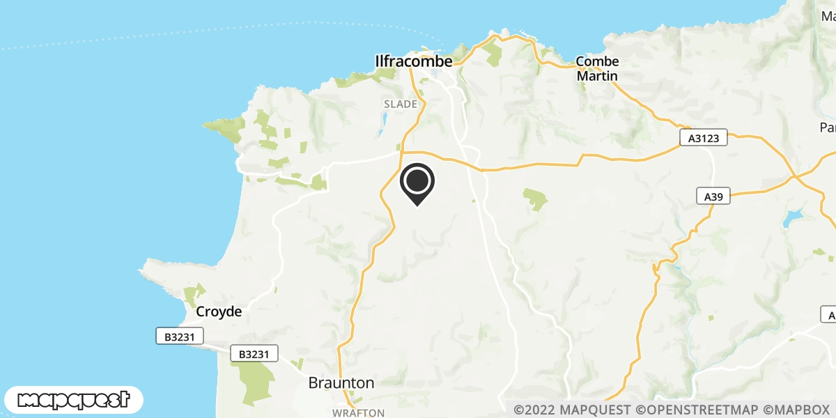 local map of watch repair drop off points in Ilfracombe, Devon   Repairs by Post
