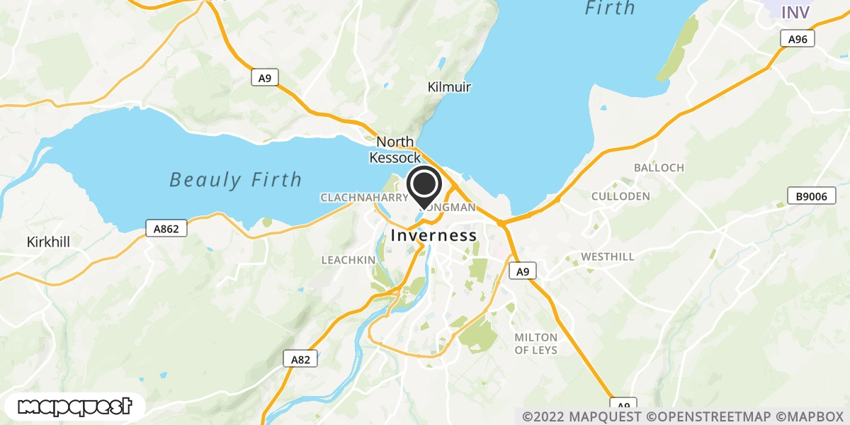 local map of watch repair drop off points in Invergarry, Inverness-shire | Repairs by Post