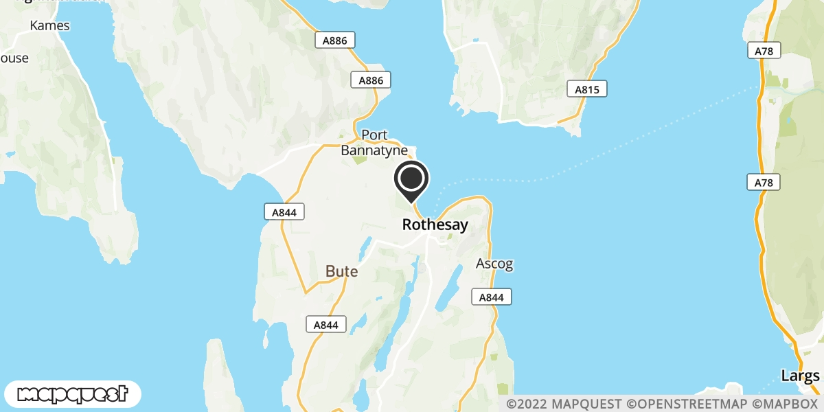 local map of watch repair drop off points in Isle of Bute, Argyll and Bute | Repairs by Post