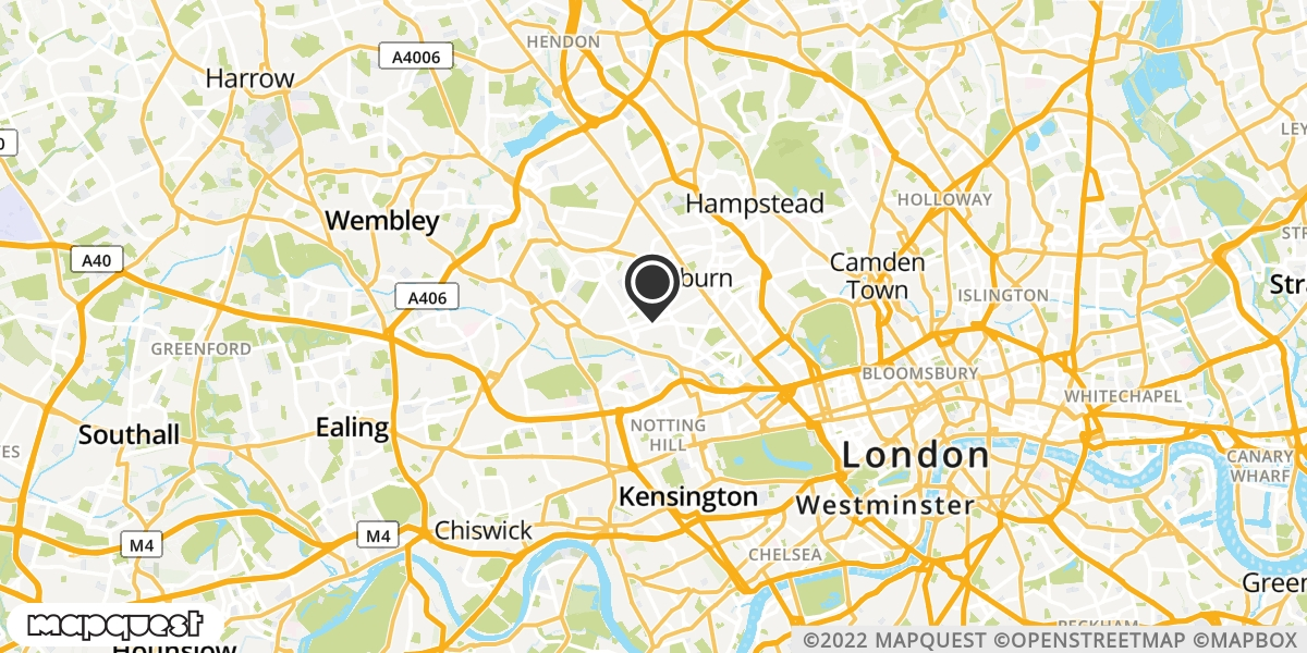 local map of watch repair drop off points in Kilburn, Greater London | Repairs by Post