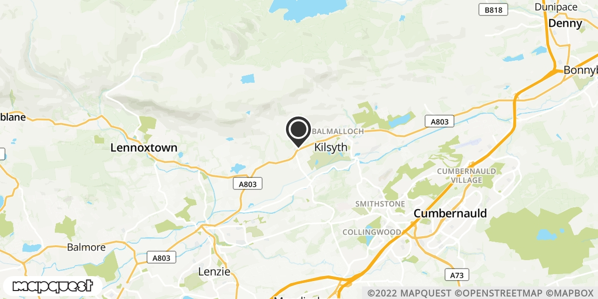 local map of watch repair drop off points in Kilsyth, Lanarkshire | Repairs by Post