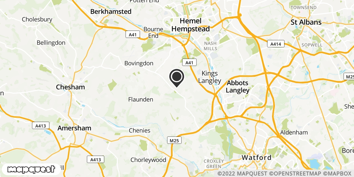 local map of watch repair drop off points in Kings Langley, Hertfordshire | Repairs by Post