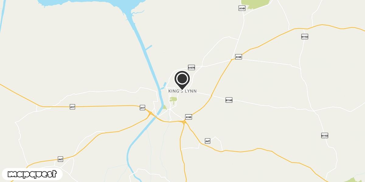 local map of watch repair drop off points in Kings Lynn, Norfolk | Repairs by Post