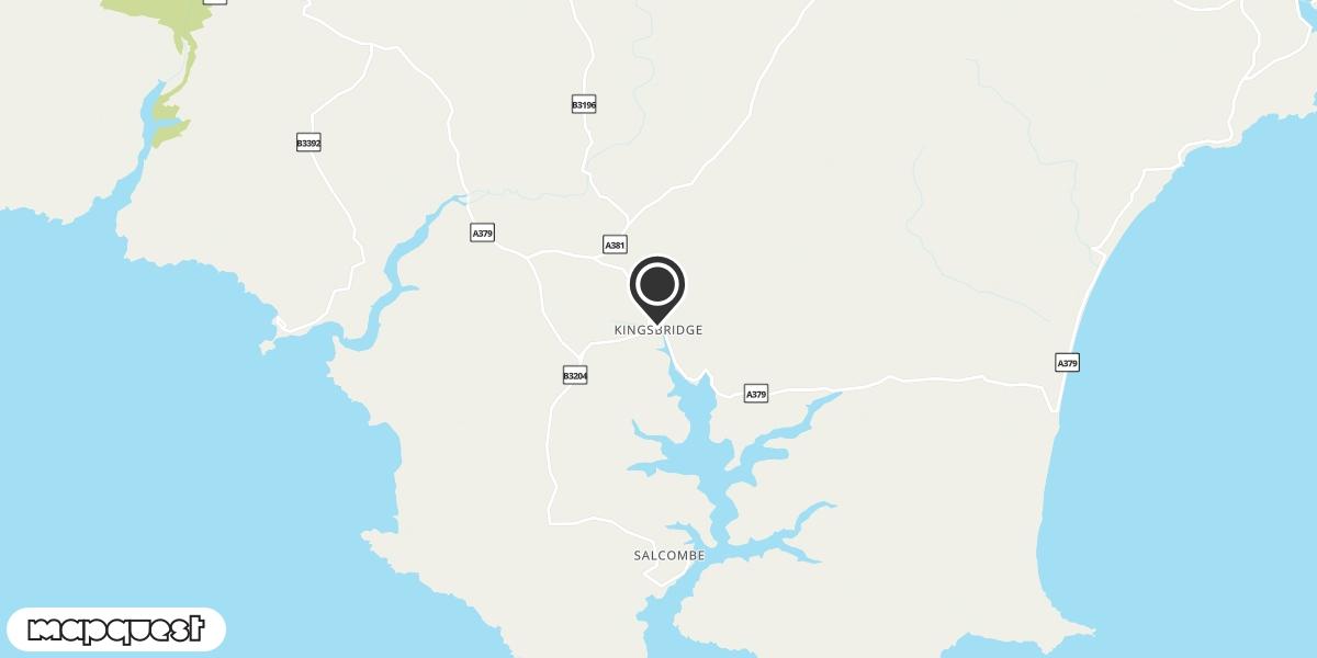 local map of watch repair drop off points in Kingsbridge, Devon | Repairs by Post