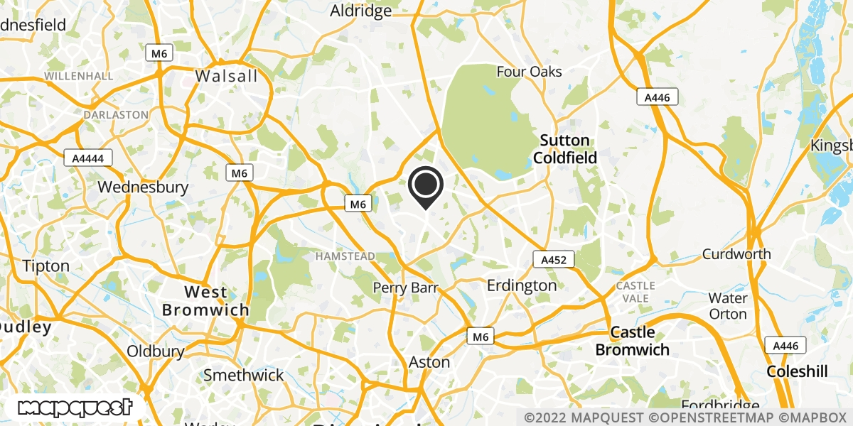 local map of watch repair drop off points in Kingstanding, West Midlands | Repairs by Post