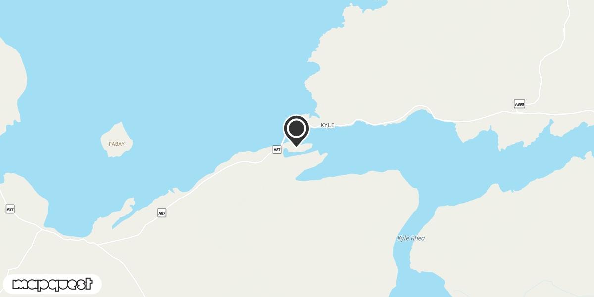 local map of watch repair drop off points in Kyleakin, Isle of Skye | Repairs by Post