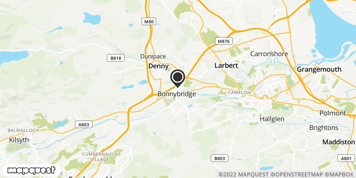 local map of watch repair drop off points in Larbert, Stirlingshire | Repairs by Post