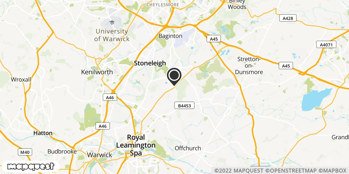 local map of watch repair drop off points in Leamington Spa, Warwickshire | Repairs by Post