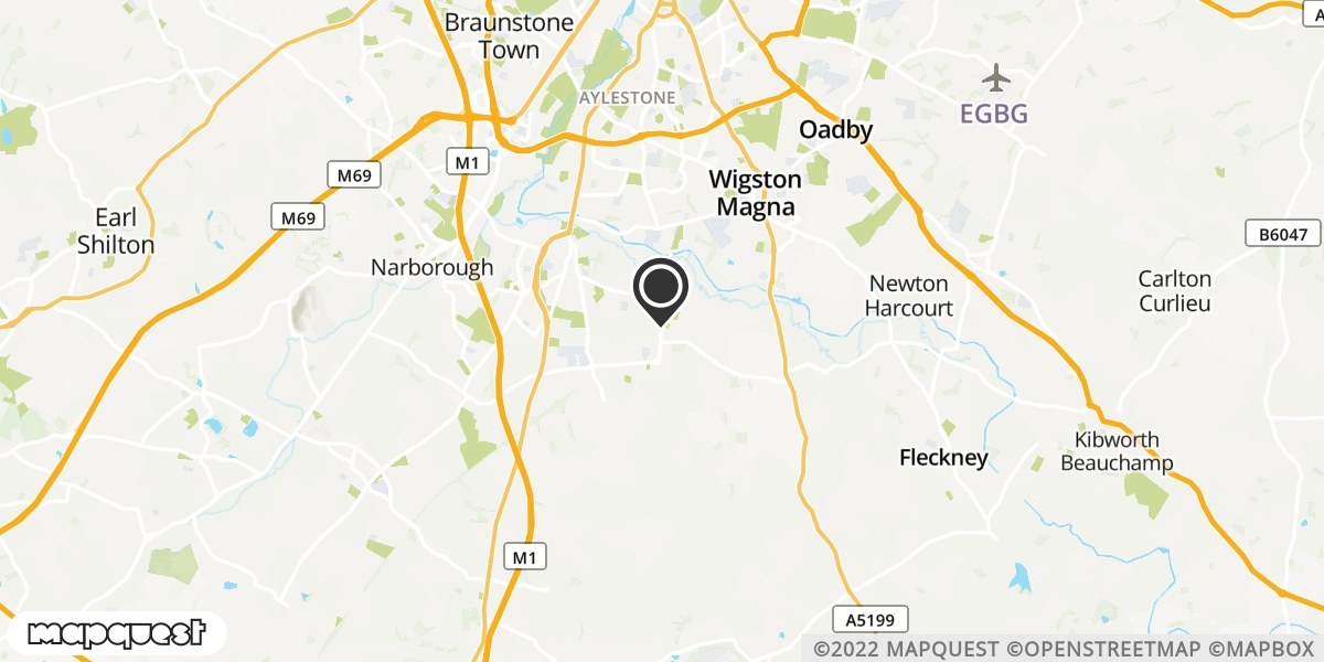 local map of watch repair drop off points in Leciester, Leicestershire | Repairs by Post