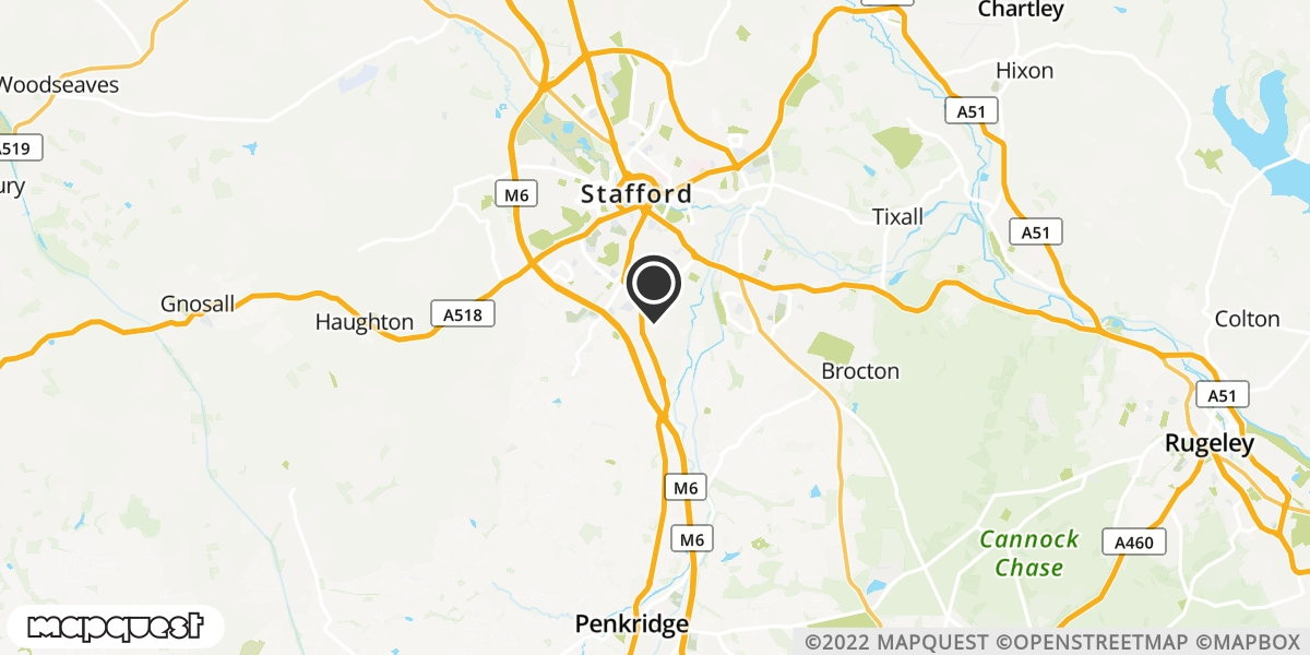 local map of watch repair drop off points in Leigh, Staffordshire | Repairs by Post