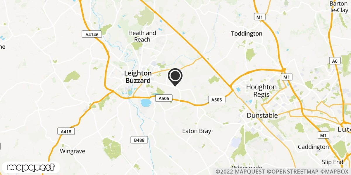 local map of watch repair drop off points in Leighton Buzzard, Bedfordshire | Repairs by Post