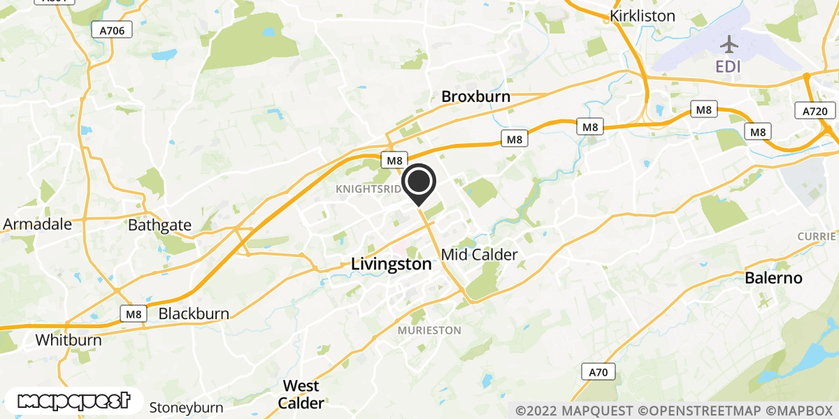 local map of watch repair drop off points in Livingston, Lothian | Repairs by Post