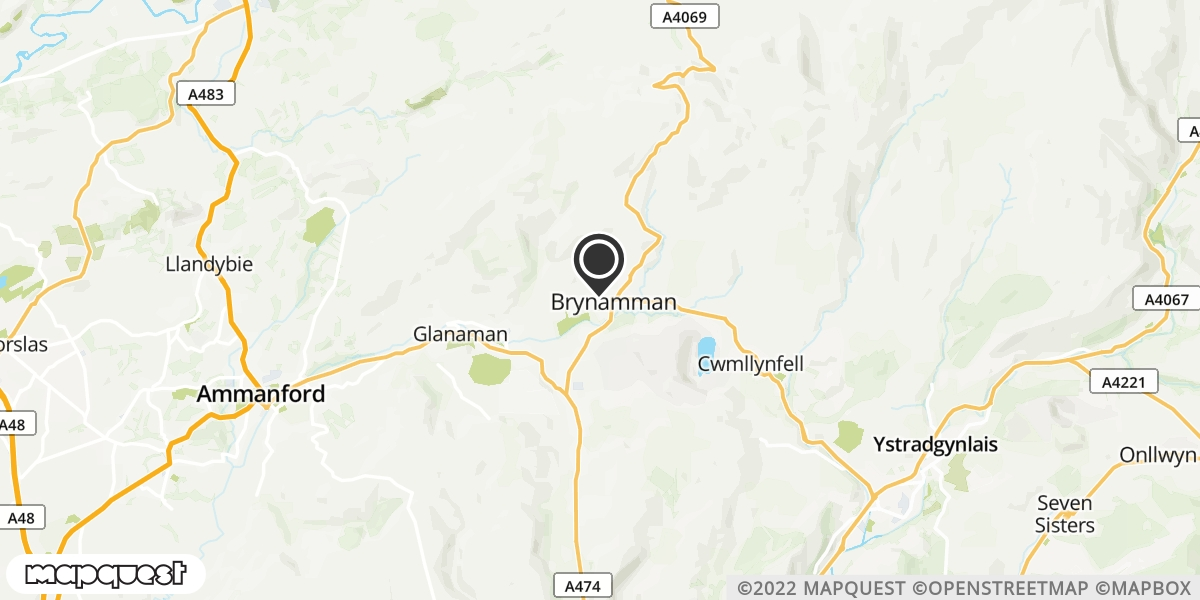 local map of watch repair drop off points in Llandeilo, Carmarthenshire   Repairs by Post