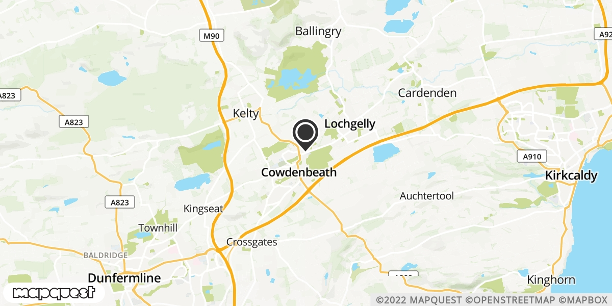 local map of watch repair drop off points in Lochgelly, Fife   Repairs by Post
