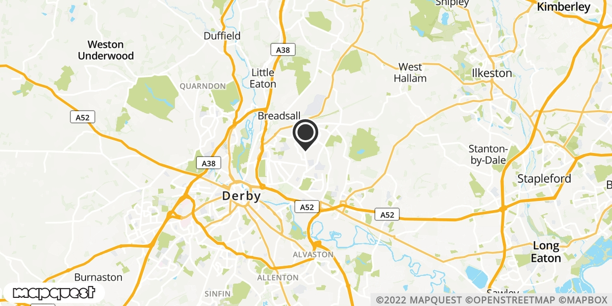 local map of watch repair drop off points in Loscoe, Derbyshire | Repairs by Post