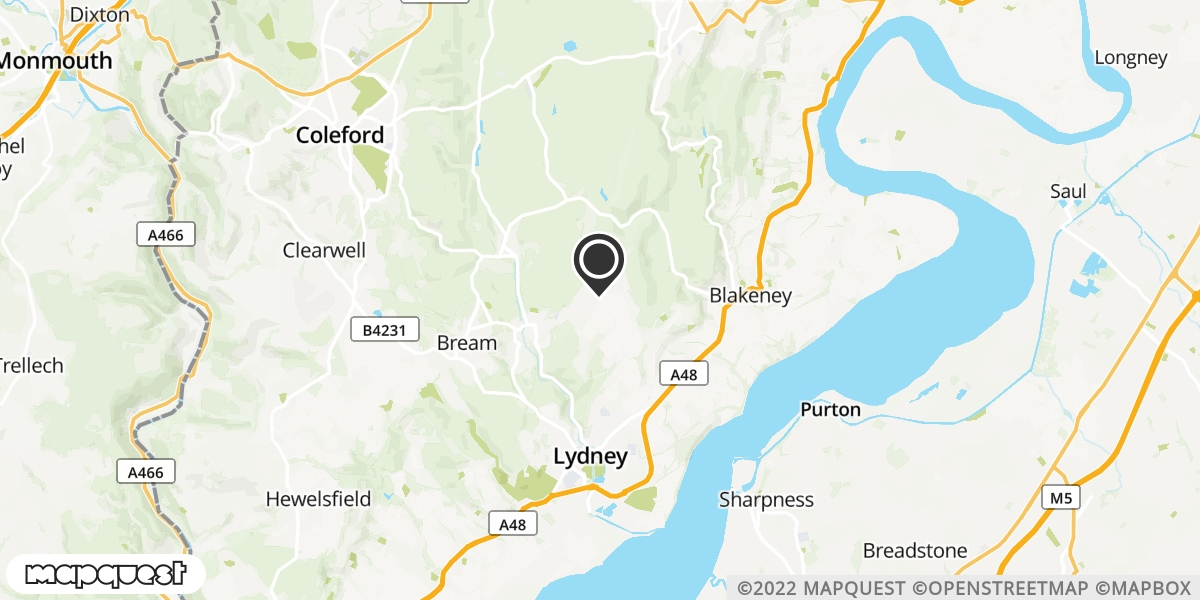 local map of watch repair drop off points in Lydney, Gloucestershire | Repairs by Post
