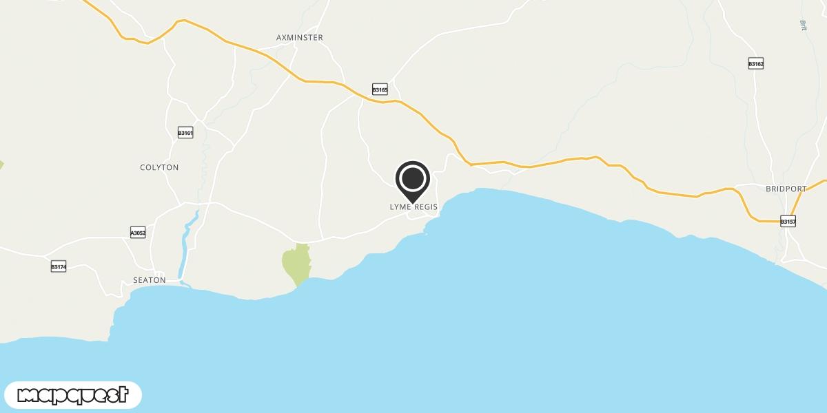 local map of watch repair drop off points in Lyme Regis, Dorset | Repairs by Post