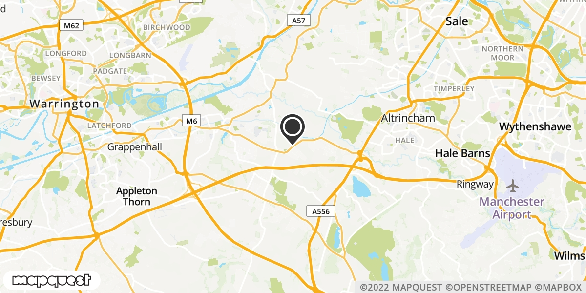 local map of watch repair drop off points in Lymm, Cheshire | Repairs by Post
