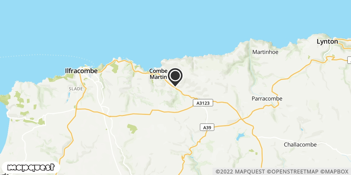 local map of watch repair drop off points in Lynton, Devon | Repairs by Post