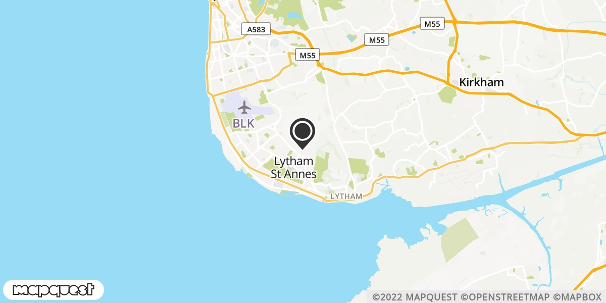 local map of watch repair drop off points in Lytham St Annes, Lancashire | Repairs by Post