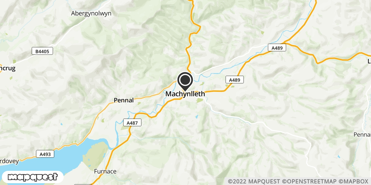 local map of watch repair drop off points in Machynlleth, Powys | Repairs by Post