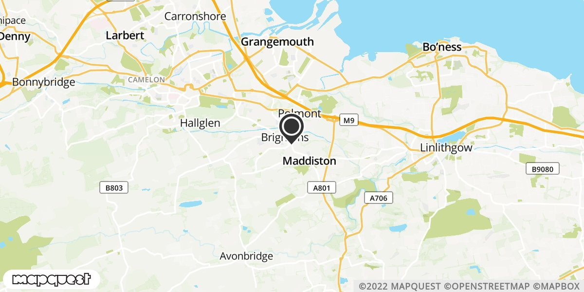 local map of watch repair drop off points in Maddiston, Falkirk | Repairs by Post