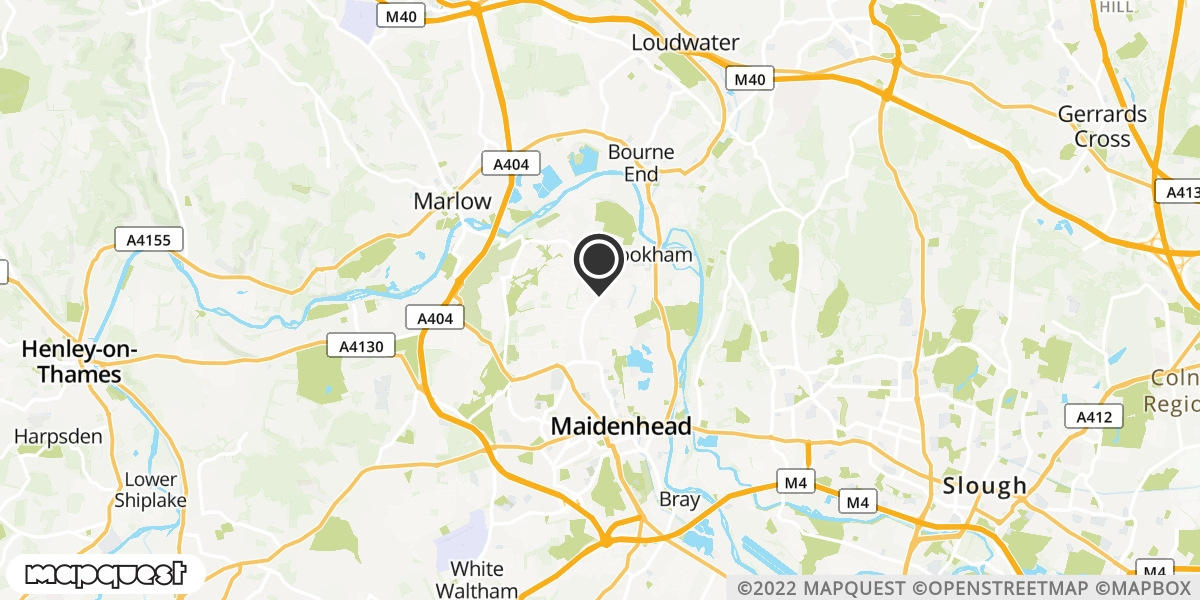local map of watch repair drop off points in Maidenhead, Berkshire | Repairs by Post