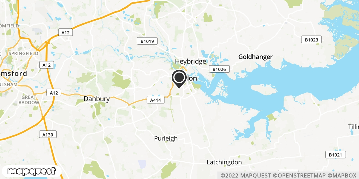 local map of watch repair drop off points in Maldon, Essex | Repairs by Post