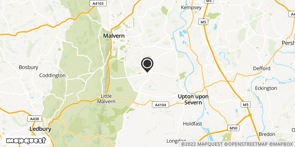 local map of watch repair drop off points in Malvern, Worcestershire   Repairs by Post