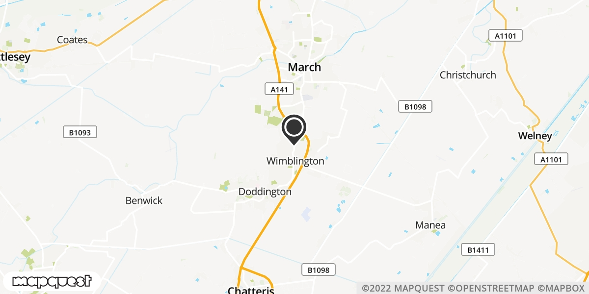 local map of watch repair drop off points in March, Cambridgeshire   Repairs by Post
