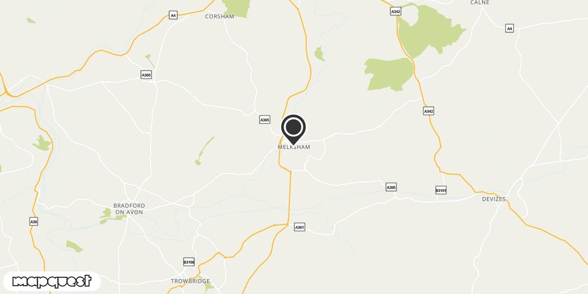 local map of watch repair drop off points in Melksham, Wiltshire | Repairs by Post