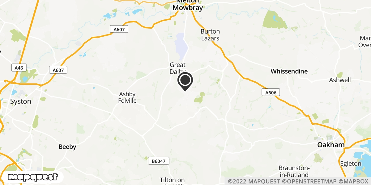 local map of watch repair drop off points in Melton Mowbray, Leicestershire | Repairs by Post
