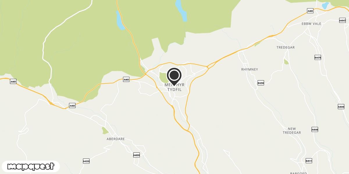 local map of watch repair drop off points in Merthyr Tydfil, Mid Glamorgan | Repairs by Post
