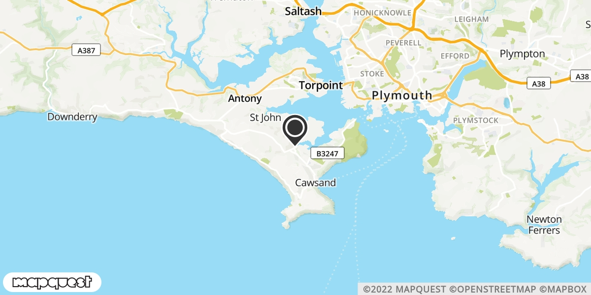 local map of watch repair drop off points in Millbrook, Cornwall | Repairs by Post