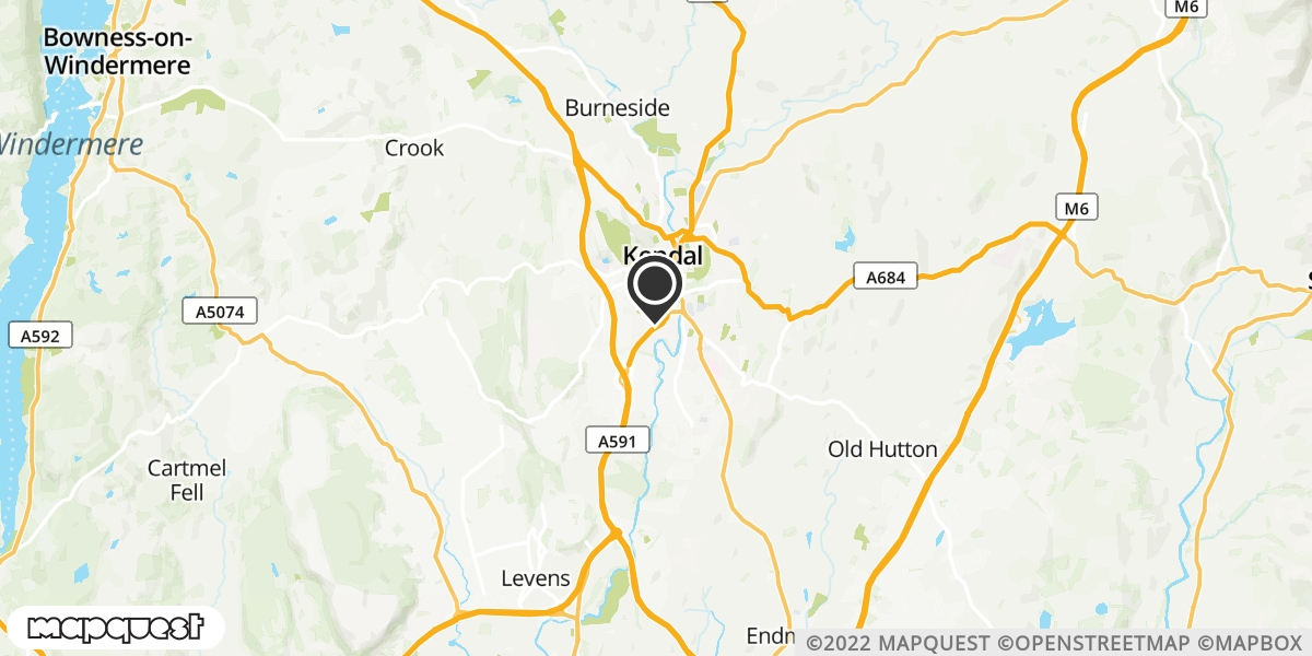 local map of watch repair drop off points in Milnthorpe, Cumbria | Repairs by Post