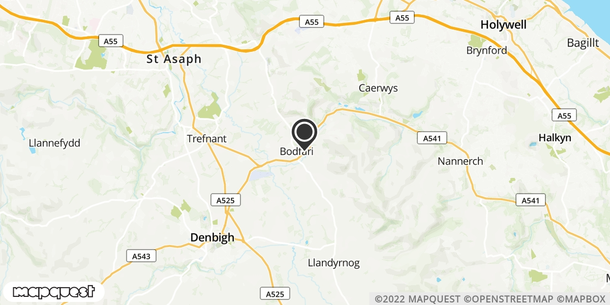 local map of watch repair drop off points in Mold, Flintshire | Repairs by Post