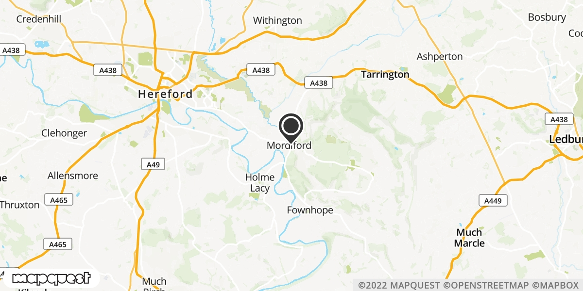 local map of watch repair drop off points in Mordiford, Hereford | Repairs by Post