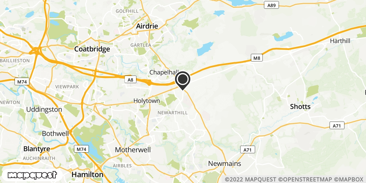 local map of watch repair drop off points in Motherwell, Lanarkshire | Repairs by Post