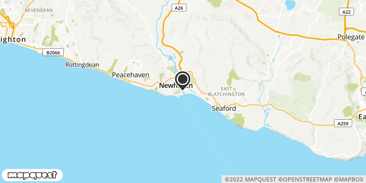 local map of watch repair drop off points in Newhaven, East Sussex | Repairs by Post