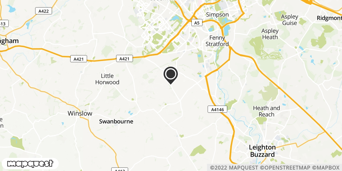 local map of watch repair drop off points in Newton Longville, Buckinghamshire | Repairs by Post