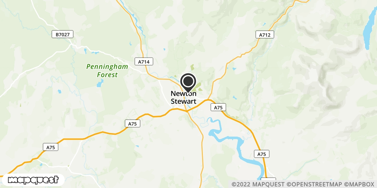 local map of watch repair drop off points in Newton Stewart, Dumfries and Galloway | Repairs by Post
