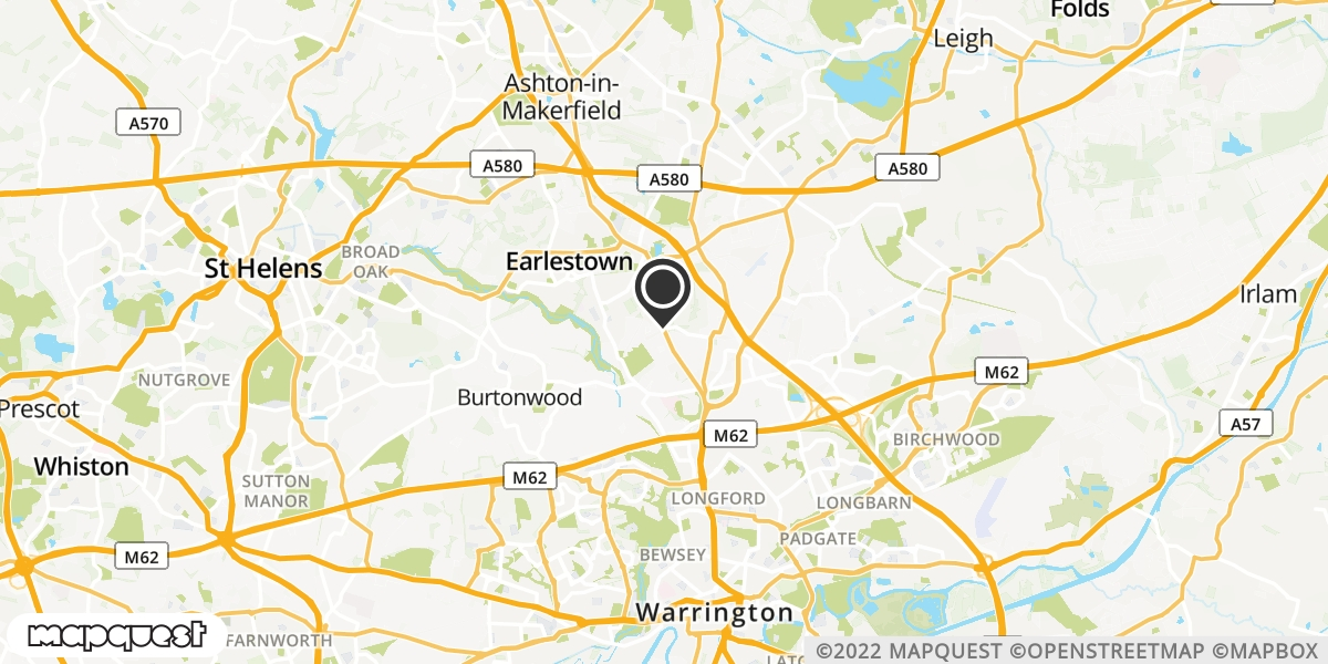 local map of watch repair drop off points in Newton-le-Willows, Merseyside | Repairs by Post