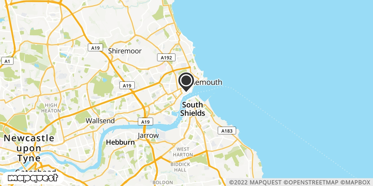 local map of watch repair drop off points in North Shields, Tyne and Wear | Repairs by Post